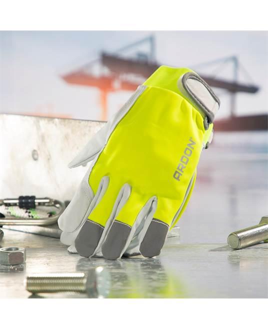 Ardon_Hobby_reflex_rękawice_rękawiczki_robocze_A1073_kombinowane_odblaskowe
