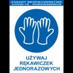 Naklejka_koronawirus_ochrona_używaj-rękawiczek-jednorazowych_Aider_znak-bhp